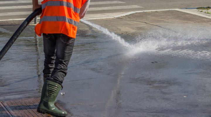pavement power wash