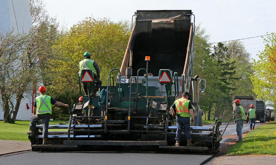 McLean Paving Contractor Crew Working